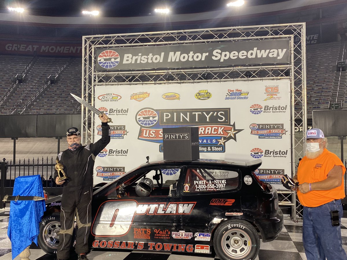 For the second year in a row Tom Gossar wins the Compact A race at The Last Great Colosseum. #PintysShortTrackNats #ItsBristolBaby