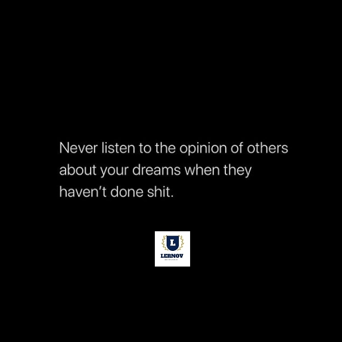 🙏🏻 Success tip :- Stop listening to people who haven't done shit. . 🗣️The people that talk the most , are the ones who have done the least. 👉🏻😊 Follow us @lernovofficial  #lernov #lernovofficial #eduaction #elearningdevelopment  #success #motivation #inspiration #love https://t.co/lEQTJ8Z0eo
