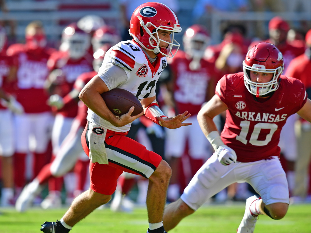 The Mailman Delivers -- I am not sure who has waited longer, Stetson Bennett to get his first real chance to show the world what he could do at #UGA, or @AnthonyDasher1 to get to use that headline...  Story: https://t.co/4Bq2XPzUSL https://t.co/47lYmRYTNp