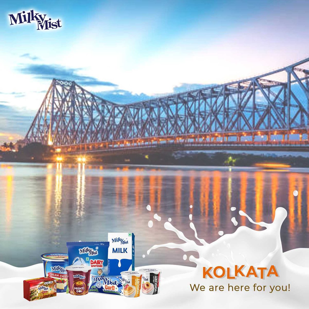 Yes, we made it to Kolkata! Get all your favourite Milky Mist products from your nearest stores now. #kolkata #kolkatafoodies #foodiesofkolkata #kolkatafood #Kolkatadairies #madeinindia #voiceforlocal #foodies #foodtalkkolkata #milkymistdairy #milkymist https://t.co/1BzWF8ogCp