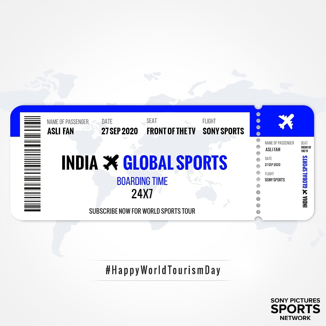 To book this 🌎 sports tour, 🛬 all you have to do is subscribe to Sony Sports channels NOW 📺🤩  #ForTheAsliFans #WorldTourismDay #HappyWorldTourismDay #WorldTourismDay2020 #SonySports #Sports #InternationalSports https://t.co/rYJ2bX8ORw