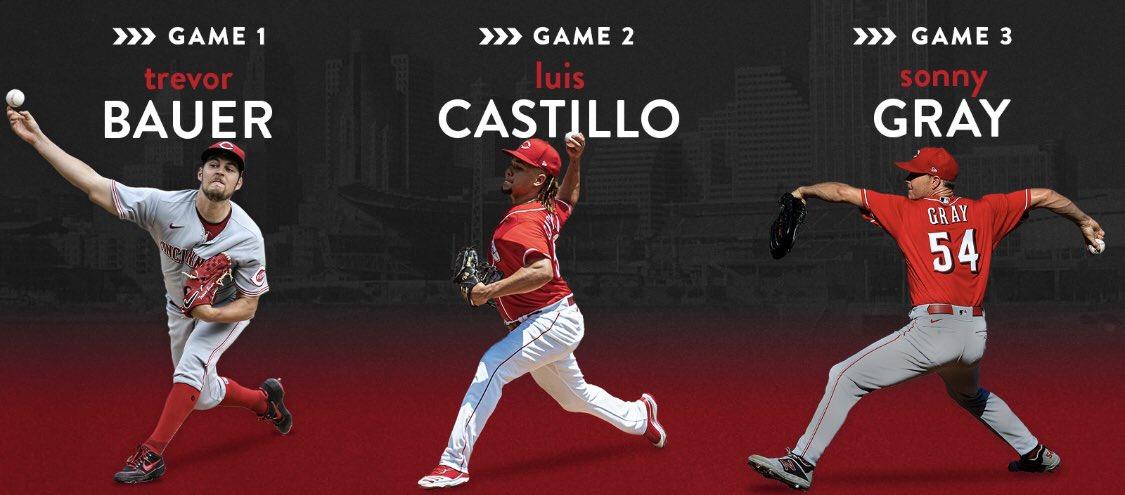 #Beisbol / @Reds anunció su rotación para la post-temporada @BauerOutage - Luis Castillo - @SonnyGray2 https://t.co/0tfQzGOVWd