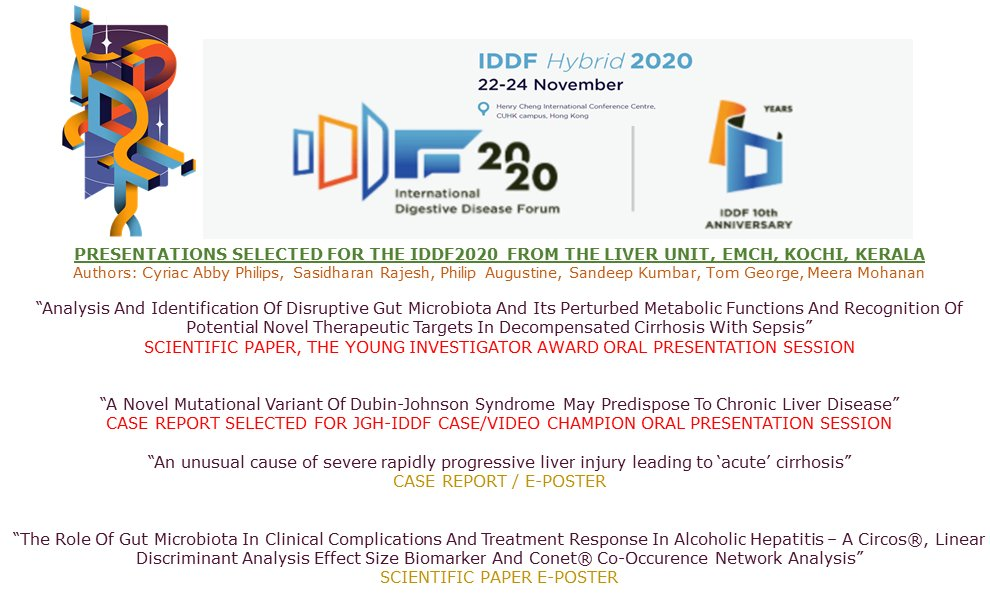 Thankyou @IDDF_CUHK, @GUTJournal_BMJ, @JGH_latest 4 selecting all our submitted work 4 presentatn at International Digestive Diseases Forum2020, Hongkong. Super excited 2 present in #younginvestigator and #champions award categories! @SRajesh_IR  #livertwitter #MedTwitter #MedEd https://t.co/1nrSxu0sTT
