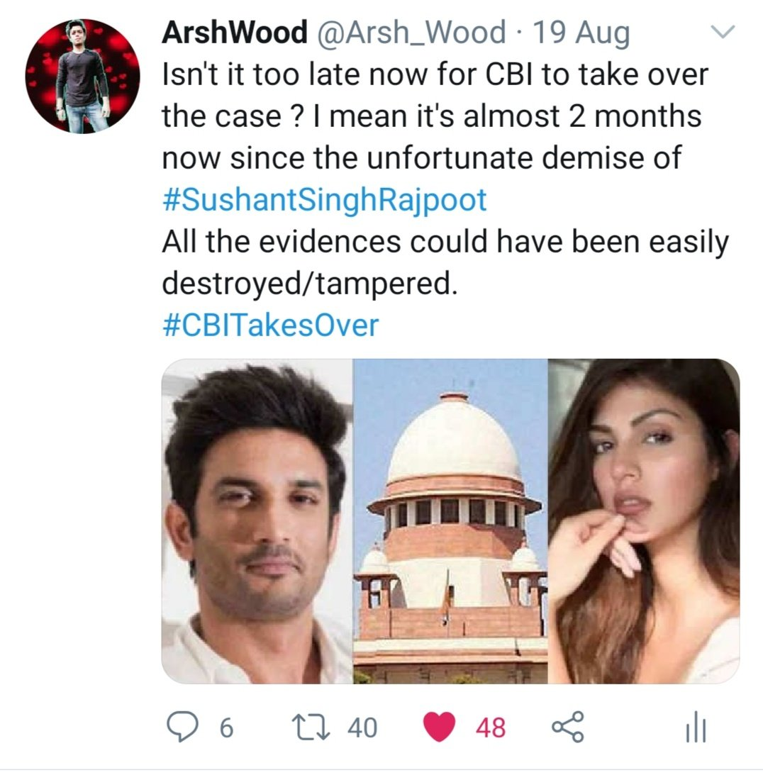 🔥 I predicted this over a month ago. I repeat it once again. Even with CBI in charge #SSRDeathCase won't be solved judiciously ⚖️ #JusticeForSushantSinghRajput  #ShraddhaKapoor 💉 https://t.co/t6lD5vo1hP