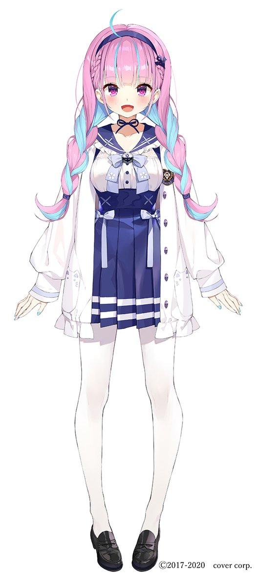 バーチャルYouTuberの湊あくあちゃん(@minatoaqua)の新衣装を担当させて頂きました。よろしくお願いいたします🙏✨#湊あくあ新衣装