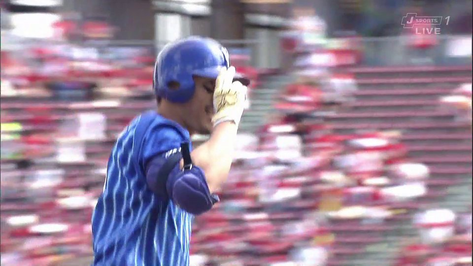 ⚾️広島×DeNA梶谷隆幸 第15号先頭打者ホームラン🙌広0-1De(2020.9.27) #baystars