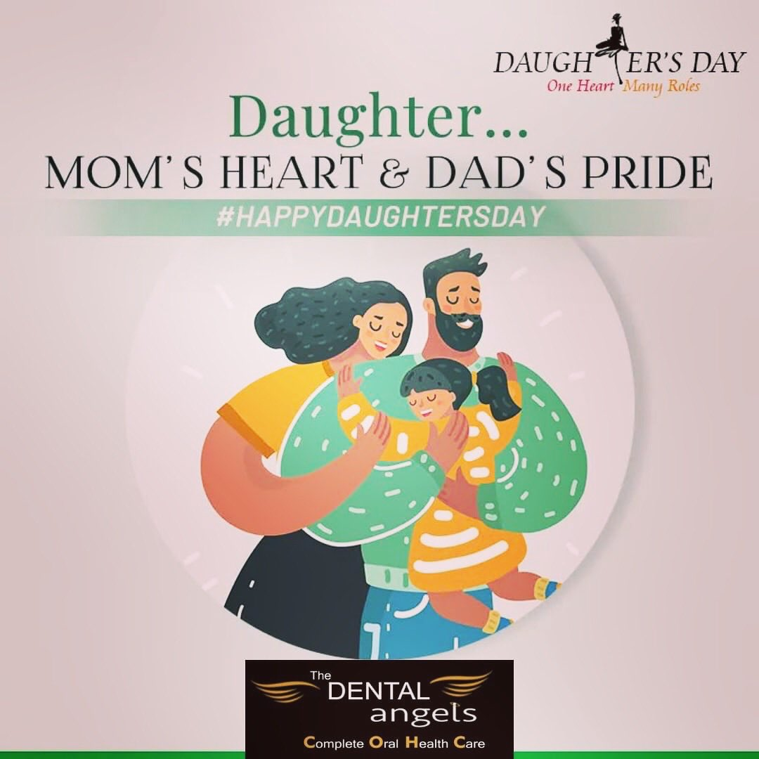 A daughter is the happy memories of the past, the joyful moments of the present, and the hope and promise of the future. Thank you for being our joy and hope. Happy Daughters' Day! #dentistry #healthcare #oralhealthcare #smile #smiledesign #thedentalangels #kothrud #pune https://t.co/3Mz3ME0sP2