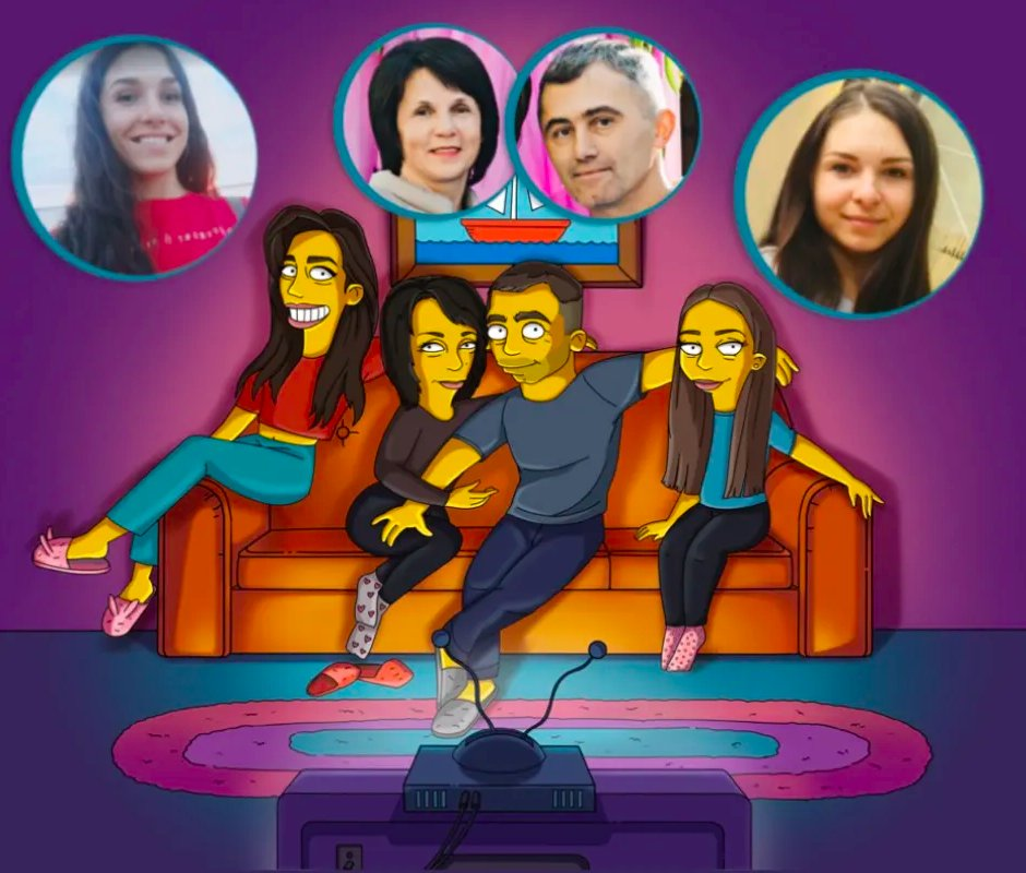 Staying in? Its a tough world out there, lets make the best of it. Get the family together and lets's make a Simpson memory!   Send Me Your Pictures here: https://t.co/Huuh5Zn20I  #thesimpsons # #familyportrait https://t.co/H45O7Nkk2Z