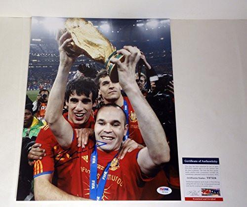 #FootballMemorabilia #SportsMemorabilia Andres Iniesta Signed Autograph 11x14 Photo PSA/DNA COA #1 ➤ https://t.co/mzNjQ9Wbsf https://t.co/kwb6oqvMVR