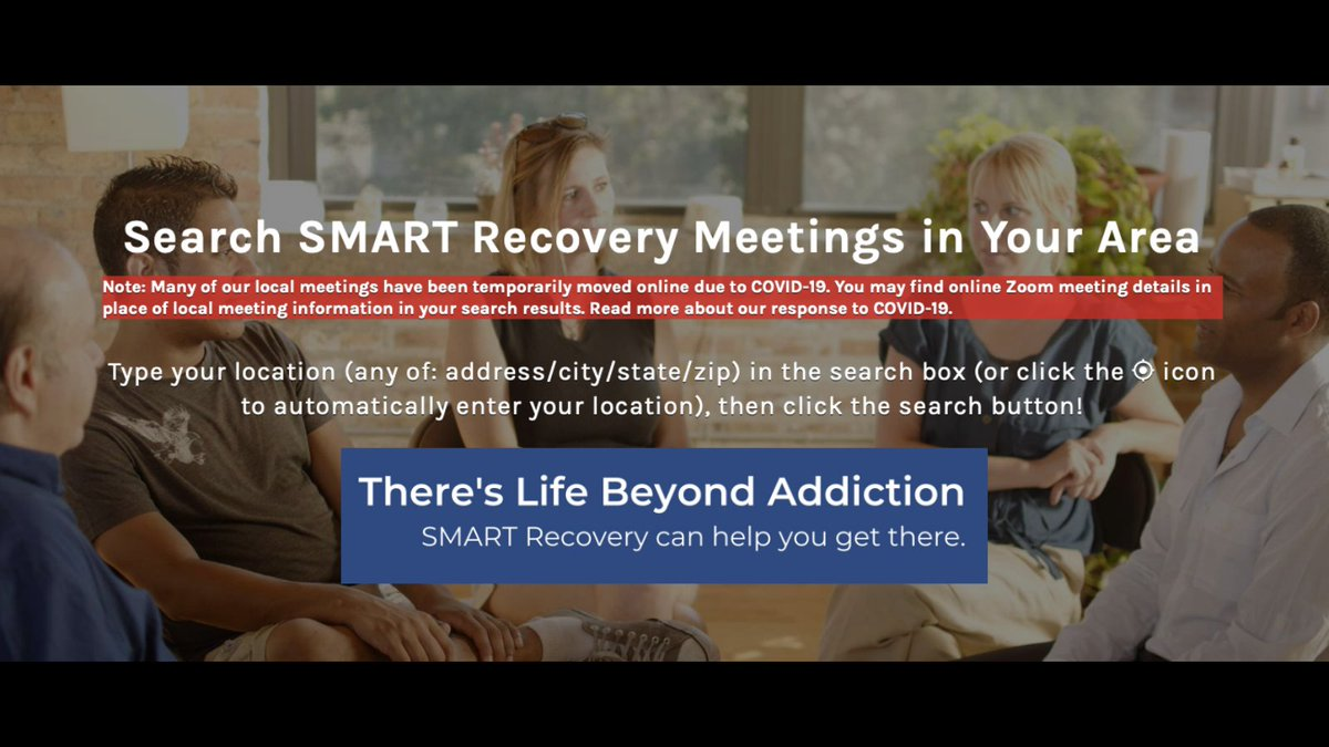 SMART stands for Self-Management And Recovery Training The main goal is for individuals to create a path towards recovery. Join our online meeting for everlasting clarity towards sobriety in life. https://t.co/Ge0mk0ypxO #addiction #Sobriety #MentalHealth #Recovery #DrugRecovery https://t.co/zFmphLP15s
