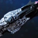 Image for the Tweet beginning: メカコレヤマト ゼルグート級一等航宙戦闘艦セット+ドメラーズ3世追加で3隻完成!  このデカールワーク、枚数は無いけどなかなか神経使うし、ディティールの追従リカバリー含め作りごたえアリ❗️  #宇宙戦艦ヤマト #メカコレ