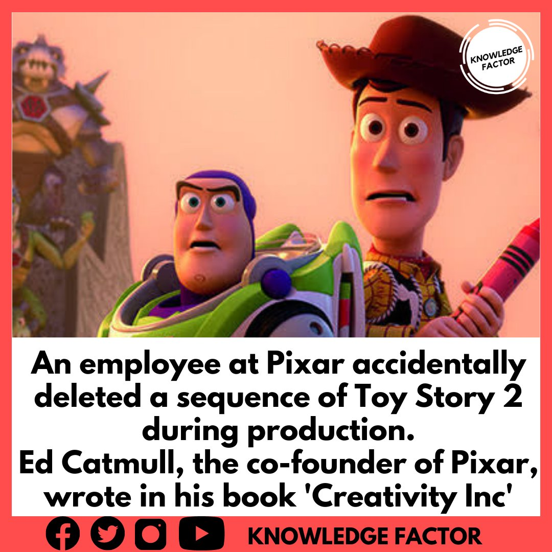Instagram: https://t.co/hzT7J3R4jo Facebook: https://t.co/Eq82ieT06l  #ToyStory #ToyStory4 #PixarFest #Pixar #employeeexperience #Sequester #Producers #production #creativity #animationjobs #movies #Hollywood #knowledgeisprofit #Facts https://t.co/KQTlPjB4vn