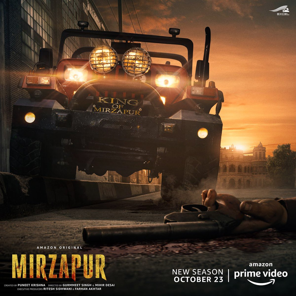 Here is the brand new poster for #Mirzapur2 🔥 https://t.co/mUlW1U7BbS