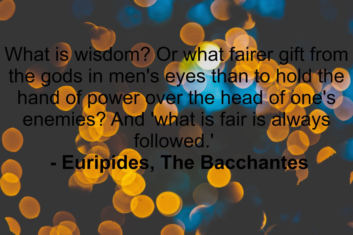 Euripides, The Bacchantes; I am a god, treat me as such, read more here: -  https://t.co/XnyGSBvgzu #selfeducation #reading the #Classics. #amreading #classicaleducation #books #bookish #classicbooks #literature #blogger  #blogging  (This time with the right link) https://t.co/VuyQzWORXJ