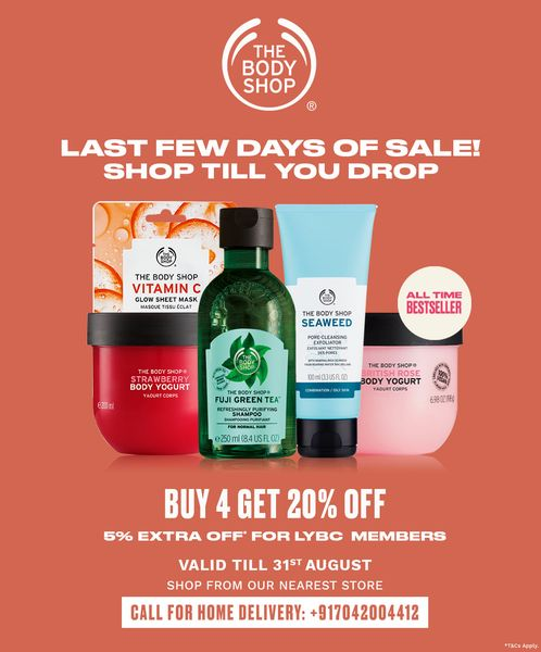 It's that time of the year. The Body Shop EOSS is here! adding to your Shopping bag? *T&C Apply #EOSS #TheBodyShopIndia #TBSInd #Sale #bodyshopmakeup #EndOfSeasonSale #Royalmeenakshimall #favouriteshoppingmall #shopping