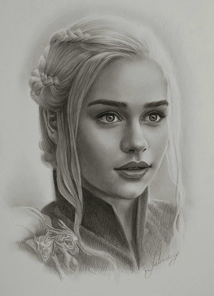 """and i am daenerys stormborn, daenerys of house targaryen, of the blood of aegon the conqueror and maegor the cruel and old valyria before them.""   art credit: https://t.co/vtacEEn3Lm https://t.co/AeGIegDWzn"