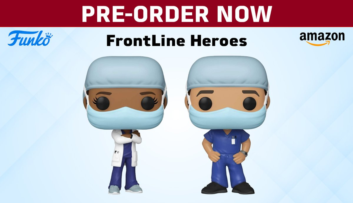 Do you want to thank the #frontliners of the #COVID19 #pandemic?  #Preorder a #FunkoPOP to commemorate the nurses and doctors who give their all to help treat patients.  #FunkoVirtualCon #NYCC #FunkoNYCC #FunkoPOPNews  #ToyStory4 #FunkoFashionFriday #funko #Pop #funkofamily https://t.co/LHEujSIELs