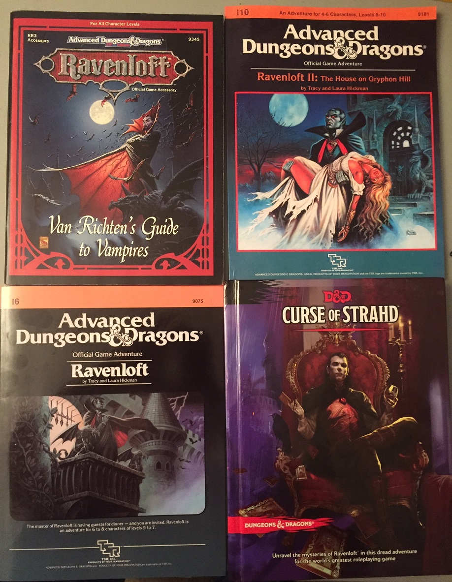 Some nifty Ravenloft stuff I do have. The two TSR Modules are actually licensed reprints from @DriveThruRPG . Much cheaper than the originals and excellent copies. https://t.co/8NzXQLRA54