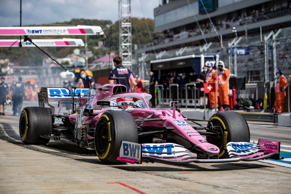 Like we said, he had to pit! @SChecoPerez rejoins in 6th but crucially has jumped both Renaults in those stops!  #RussianGP #F1 https://t.co/eROk9A0TEa