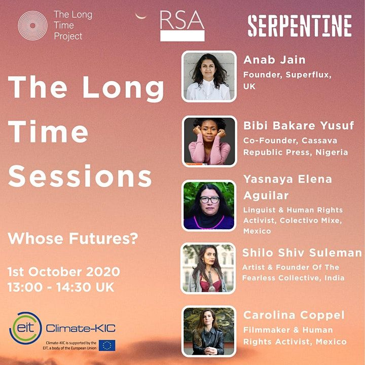 The next @LongTimeProject session is exploring who has access to shaping and imagining the future. Speakers will look at the ways that 'present-day inequalities get projected into futures'. 1st October 2pm  You can register for free here: https://t.co/TLPGuukgO0 #longtermism #rsa https://t.co/wVQz6D5O28