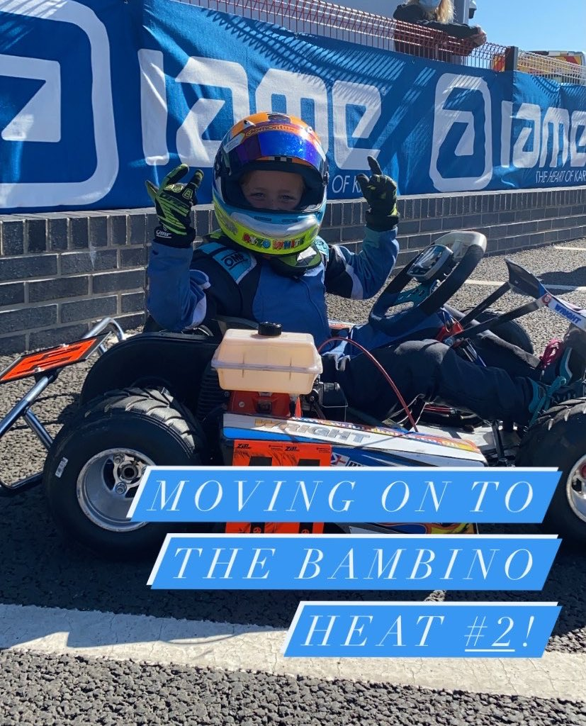 Moving onto Heat #2 in the Bambino class! 🤟🏼  Watch these tiny tots take to the track on our live stream here: https://t.co/rugl7rlDG3 😍  #BKC #BackOnTrack #OurMotorsportUK https://t.co/iqJxBJhAP5