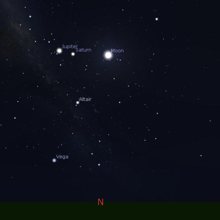 @RKMac65 @baxlex @ManjitK6987 @perthovalman @paulmp @2017Ferret @BigV2011WCE @WendyBirdOZ @Barnsy_Lisa @Richard_Kreider @BunburyWeather @drstip @ImTheOnlyAstro @Rob_lebob @Sparrow_65 @TheWAWG @aussie_robbob @timeanddate The Moon Is Near Jupiter And Saturn Tonight: #MooningCrew #PerthNews #PerthIsOk #PerthWeather #JustAnotherDayInWA #SouthWestWA #GreatSouthern #Goldfields #Gascoyne #Pilbara #Kimberly #Wheatbelt #WAWeather #WesternAustralia   🟠         🪐      🌔                        🔭👁🗨🤖👨🚀👩🚀 https://t.co/iouyG5HFBt