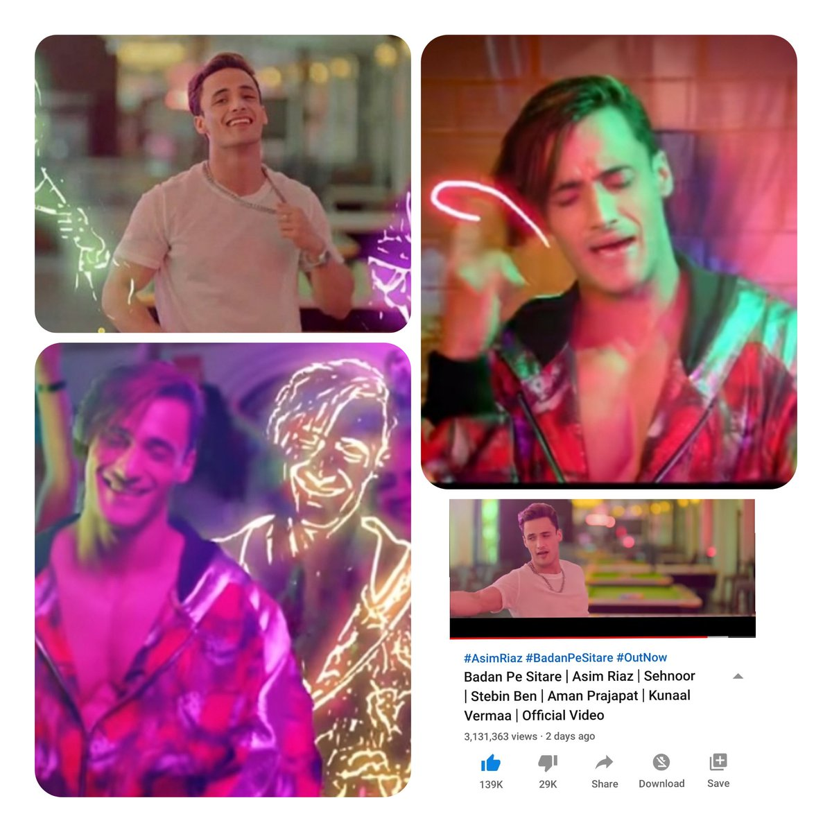 Asim givs out d retro vibe in ths song #BadanPeSitare sung by #StebinBen  I'm  loving his voice now. 🥰  It's all abt dance, Asim's swag,style his awsm lip sync, romance n all. Stream ths song share d link n increase d vws Song link :-  https://t.co/GVZiFClwU0 #AsimRiaz  👑💎 https://t.co/ov9yCT5ZkM