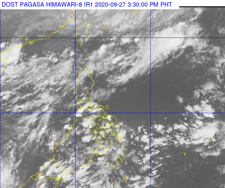 PAGASA 24-hour Public Weather Forecast as of 1600 PhST (0800 UTC), September 27, 2020. https://t.co/WrvolO7MHk