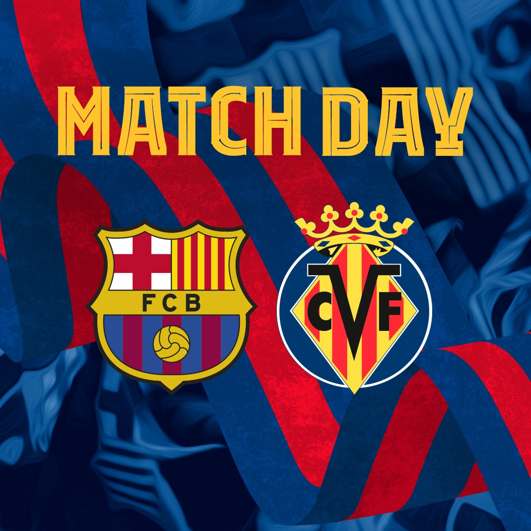 🔥 MAÇ GÜNÜ! 🙌 @LaLiga ⚽️ #BarçaVillarreal 🏟 Camp Nou ⏰ TSİ 22.00 https://t.co/binRx0BaPS