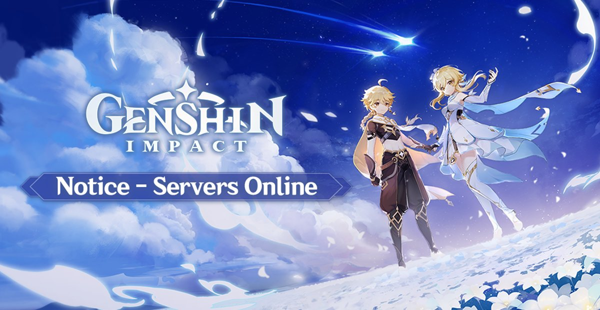 Paimon On Twitter Dear Travelers Genshin Impact Servers Are Now Online Across Multiple Platforms Ps4 Ios Android And Pc Welcome To The World Of Teyvat Head Over To Genshin Impact S Official Site