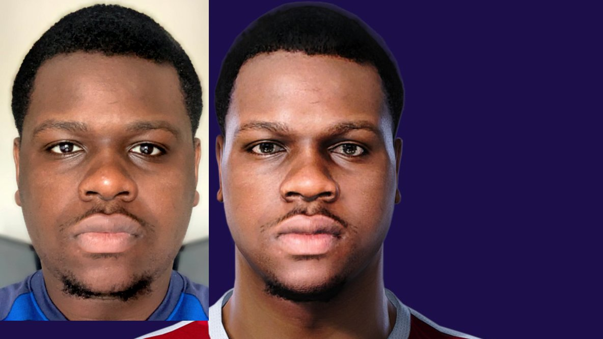 New personal face @d_sheraton  Do you want to see your game face in PES? Contact me (DM) #eFootballPES2021 #eFootballPES2020 #PES2021 #PES2020 #PES2019 #PES2018 https://t.co/zeHF4OxDiF