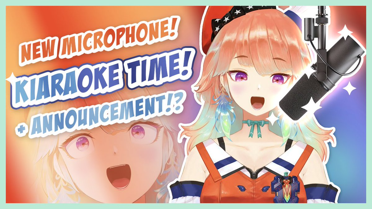 ANNOUNCEMENT! 告知!NEW MIC! 新しいマイク!KARAOKE! カラオケ!LETS GOOOOOOOOOOO