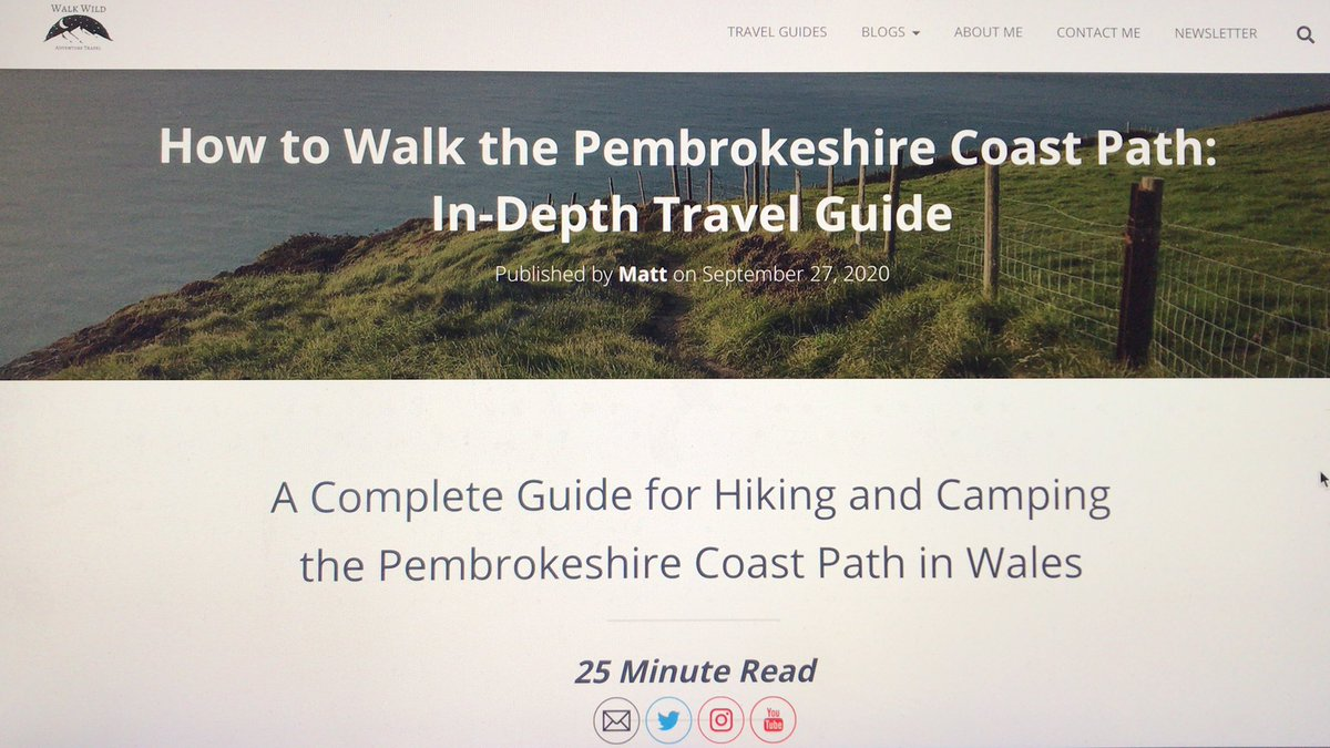 My Pembrokeshire Coast Path travel guide is now live!  It'll tell you all you need to know for how to walk the 186 mile trail.  Take the opportunity to explore our @uknationalparks and to visit one of our local @NationalTrails!  https://t.co/Fx3mpoBjrw  #ExploreLocal #Staycation https://t.co/EApPRKClX0