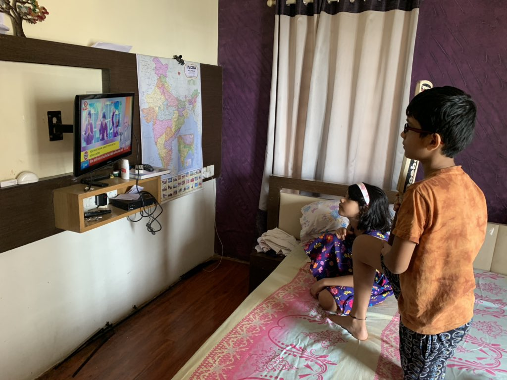 Kudos to @narendramodi ji for emphasising the significance of story telling. The numerous stories and anecdotes from our epics and history are ever inspirational. My children Vihaan and Anvi enjoyed this episode of #MannKiBaat https://t.co/DKJEyVolAM
