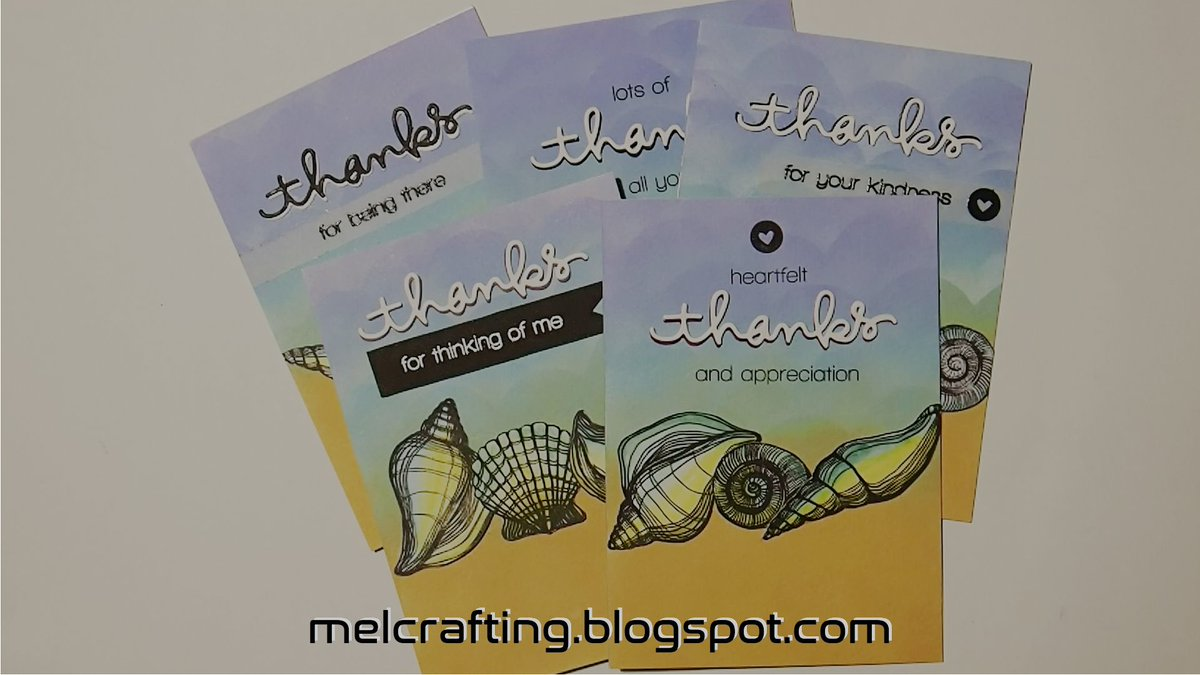 Seashell thanks cards #cardmaking #seashell #thanks #cards #beach #summer #arty #papercraft #blend #diecut #crafty @CraftingMel   https://t.co/HnnDRJsDhn https://t.co/988GVG8aYu