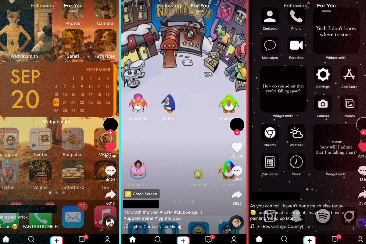 Custom iOS 14 widgets have become a TikTok flex