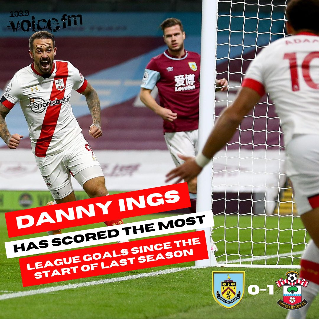 ⚽️ Danny Ings scored his 25th goal since the start of the 2019/2020 season as #SaintsFC grab their first win of the season!  The goal came in the first 5 minutes of the game at Turf Moor against Ings' former club, Burnley 🙌  #BURSOU #PremierLeague https://t.co/tJ3KymFuCw