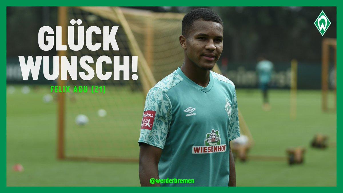 Alles Gute zum 21. Geburtstag, Felix #Agu! 🎁🎈   #Werder https://t.co/jBLFFbFiTX