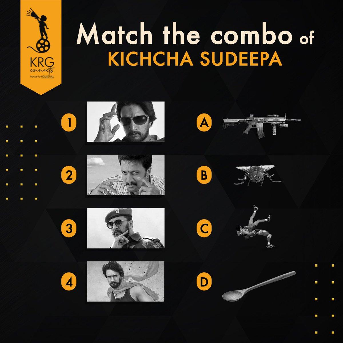 Match the combo right to prove that you are true #Sudeepian  . #Sundayfunday with  ❤️ @KicchaSudeep ❤️ .  #Sundaymood #KicchaSudeepa #KichchaSudeep #kicchasudeep #Sudeepians #Phantom #kicchafans #abhinayachakravarthy #kicchabirthday #KrgStudios #KrgConnects #HouseToHOUSEFULL https://t.co/GS5SvIhtfO
