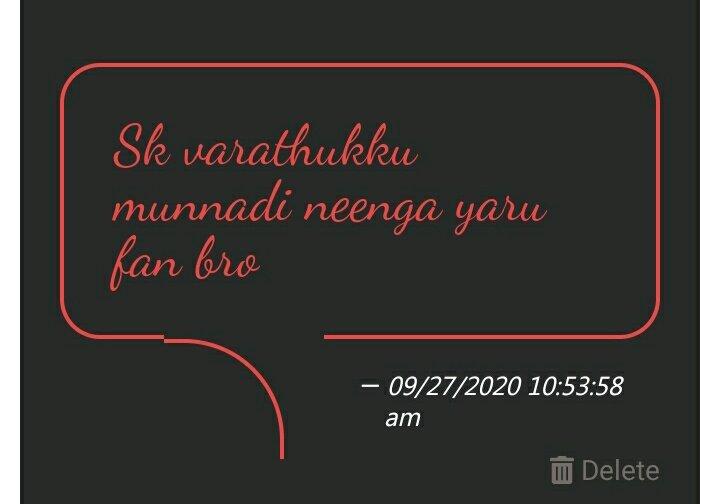 SK Varadhuku Munnadi Naa Indha Alavu Yarukkum Fan-nu Irundhadhu ille.. But I Love Thalaivar @rajinikanth and #ThalaAjith 😍 https://t.co/6lwuG6rfcF
