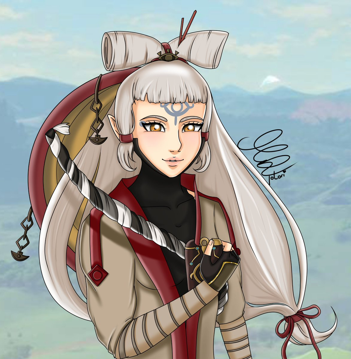 Totori Commissions On Hold On Twitter Young Impa Fanart I Had To Draw Her After I Saw The New Hyrule Warriors Age Of Calamity Trailer Really Hyped For