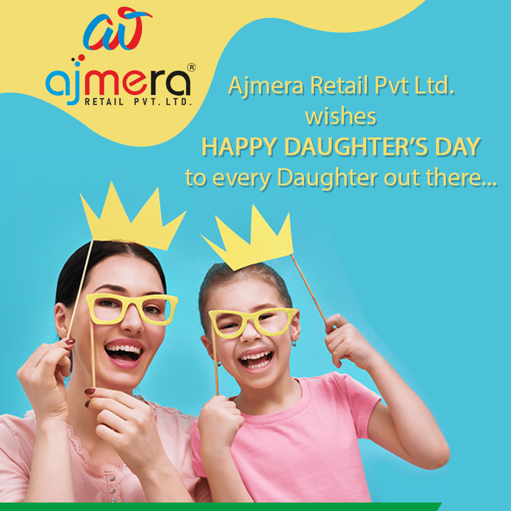 A daughter is the best thing that can happen to you because a daughter fills your heart with magic and love. Happy daughter's day --- Ajmera Retail Pvt. Ltd.  #daughters #family #sisters #daughter #momlife #kids #mothers #girls #mom #motherhood #sons #instagood #happydaughtersday https://t.co/HbY6kDckwq