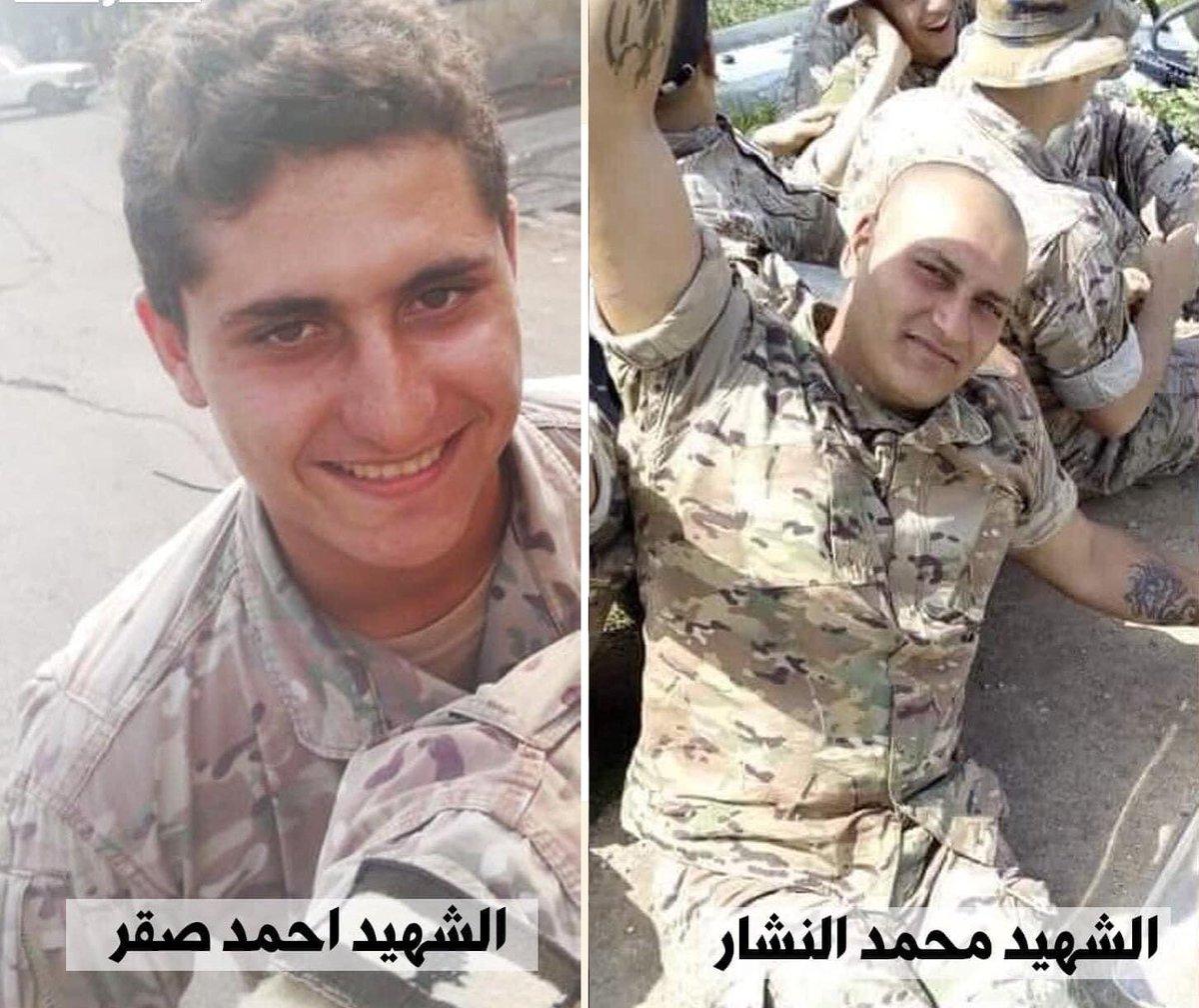 خيرة شباب الوطن ... على مذبح الشهادة للوطن.  #لبنان https://t.co/POyNPxkhld
