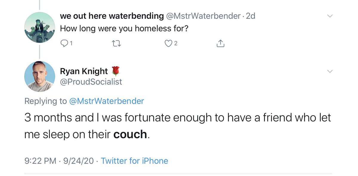 Staying with a friend IS THE SAME AS BEING HOMELESS!! I had to sleep on the couch! The neoliberals try to shame those of us who are homeless but don't sleep in a shelter or on the street. They have never addressed comfortable homelessness.