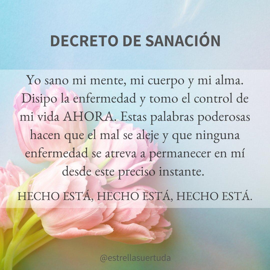 🍃Decreto de Sanación🙏  #decretosyafirmaciones #hoy #domingo #sanación #poderinterno #alma #celestial #Chile #latinos #amor #universo #divinidad https://t.co/FBDO4UyZXU