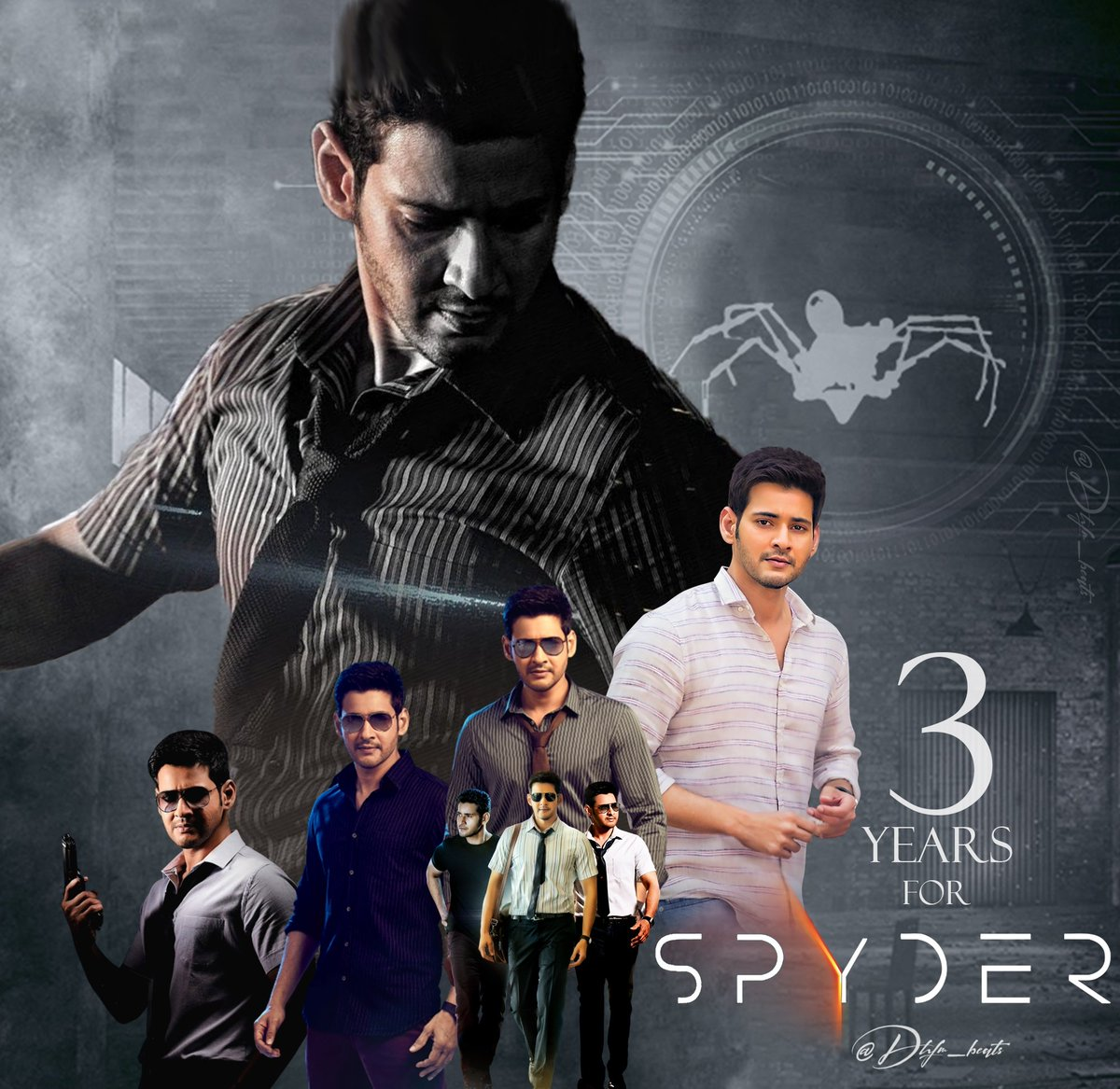 Superstar   @urstrulyMahesh #Spyder completes 3 years  @ARMurugadoss @Rakulpreet @sonymusic @SpyderTheMovie  #MaheshBabu #3YearsForSPYder https://t.co/sriMONWaRg