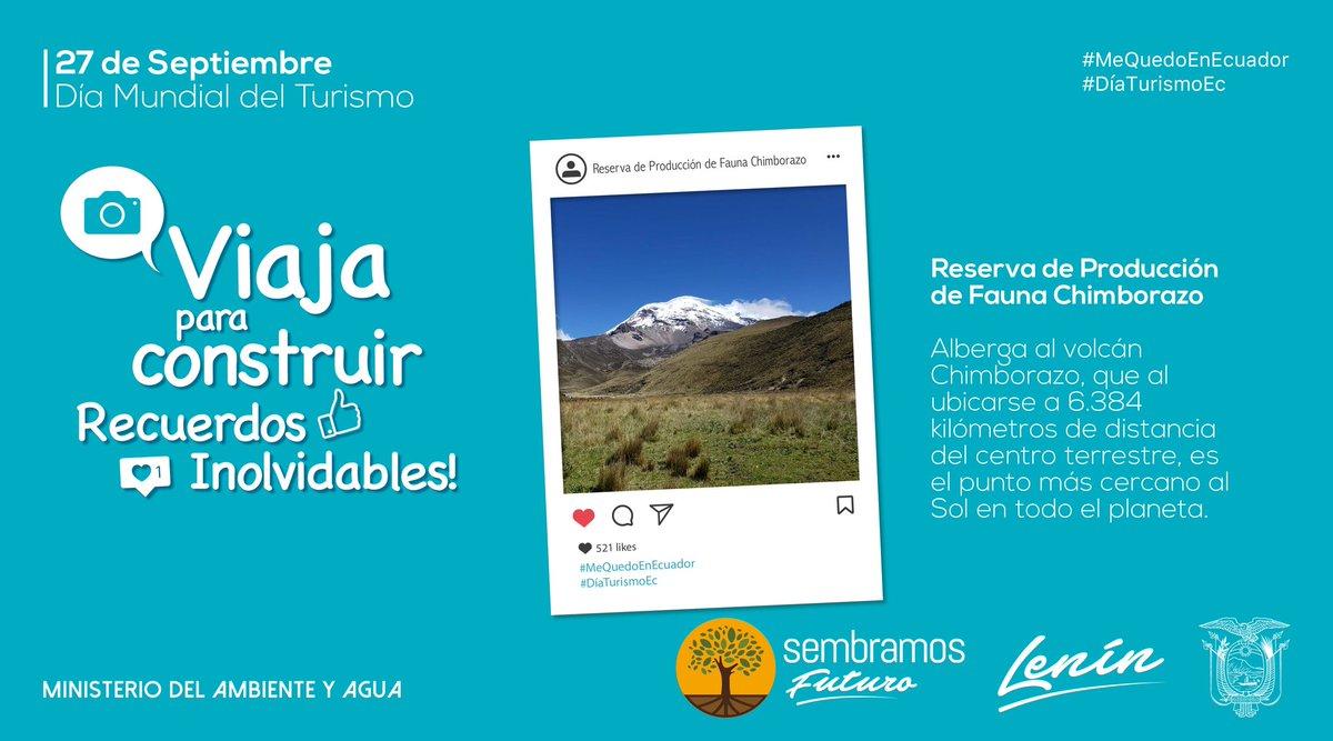 #DíaTurismoEc | Cuando visitas las áreas protegidas del país no solo disfrutas de la naturaleza, también aportas a la economía de las comunidades aledañas a estos espacios.   Conoce cuáles están reabiertas → https://t.co/rDYtLNyQ9S  #MeQuedoEnEcuador https://t.co/6qkB6nfqQa