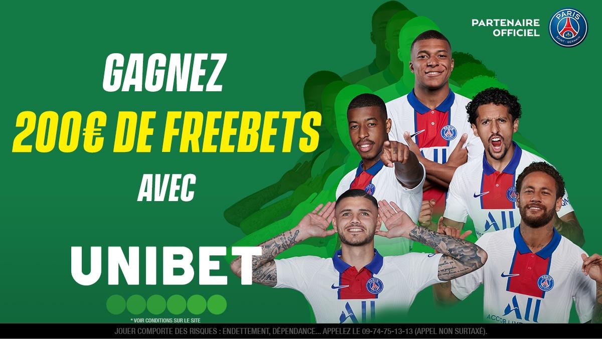🤑 10 x 20€ à gagner pour Reims 🆚 Paris Saint-Germain ! Qui sera le dernier buteur ? #SDRPSG  👉 RT + #FreebetUnibet + Pseudo pour participer.  ⏱ Fin du jeu à 21h00.  🍀 TAS lundi. https://t.co/NMuar3MOjg