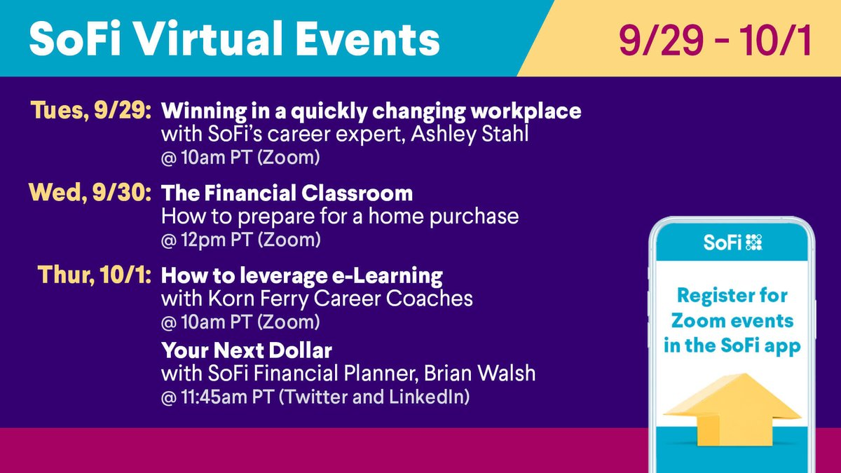 test Twitter Media - Our lineup of virtual events this week is all about helping you continue to make progress on your career and your financial independence. Join us on #twitterlive, #Zoom and LinkedIn Live this week. https://t.co/HXDDIyw7dX