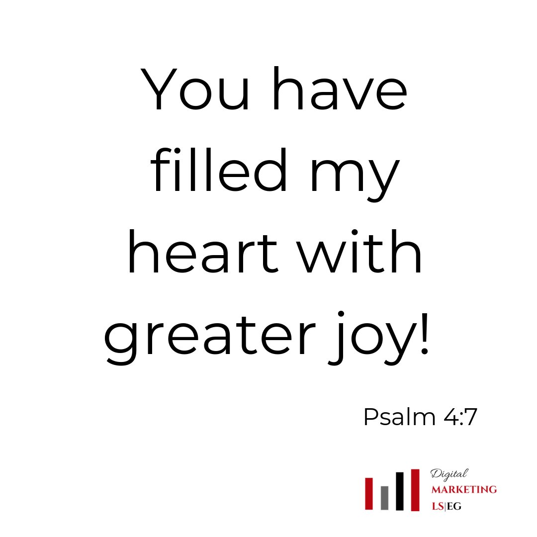You have filled my heart with greater joy! Psalm 4:7 #verseoftheday #belovedlife #faithinspired  #livefullyalive #liveloved #madetomatter https://t.co/1jNs2OwVWT